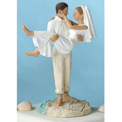 Just Married Beach Sand Wedding Couple Figurine