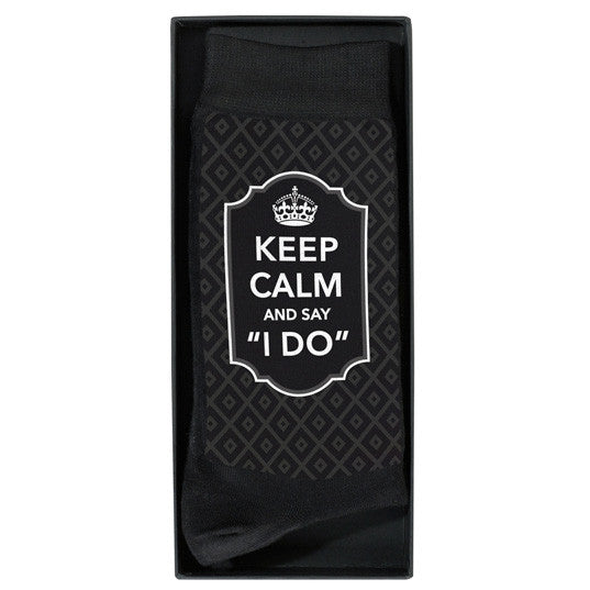 Keep Calm and Say I Do Grooms Socks