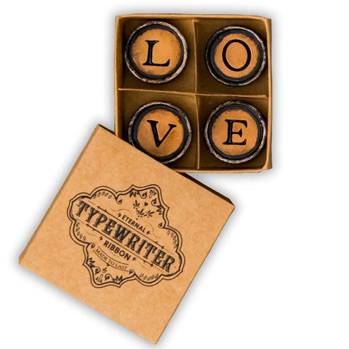 LOVE Vintage Typewriter Key Magnets Themed Wedding Party Favor (Pack of 2)