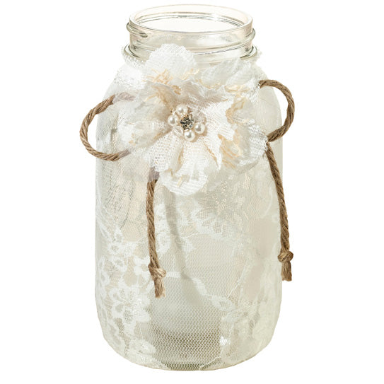 Lace Quart Jar Covers Party Wedding Decoration