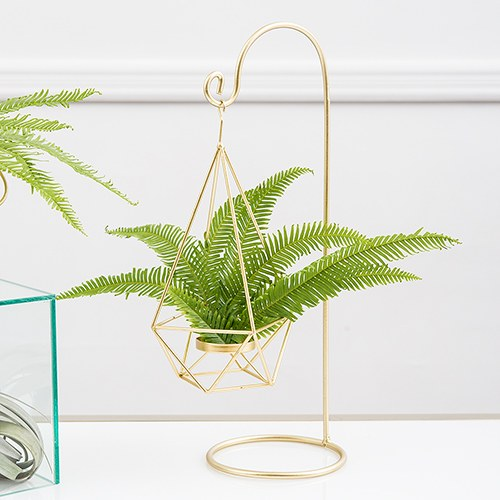 Gold Geometric Hanging Tealight Holder