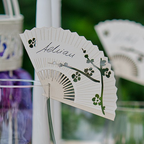 Fan Die Cut Card Wedding Party Decoration (Pack of 12)
