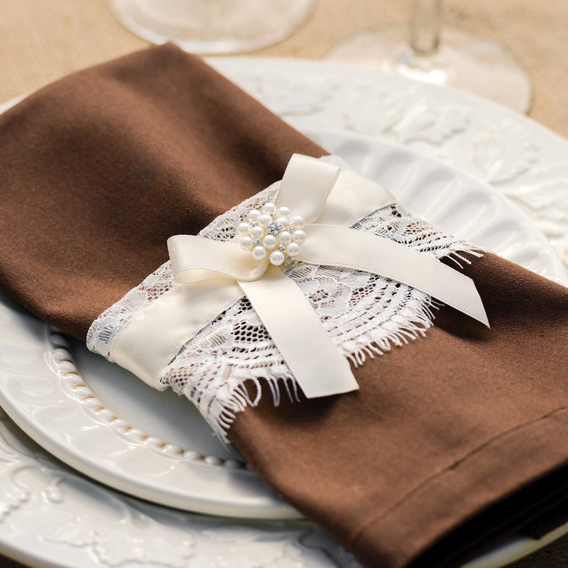 Layers of Lace Wrap used to beautify napkins.