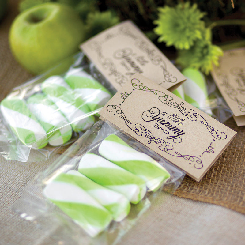 Kraft DIY Wedding Candy Card and Bag Set