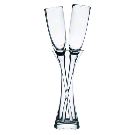 Long Stemmed Wedding Toast Glass with Vase