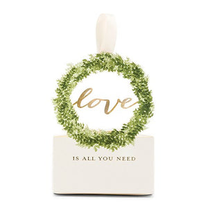 Love is All You Need Green Woodland Wreath Favor Box
