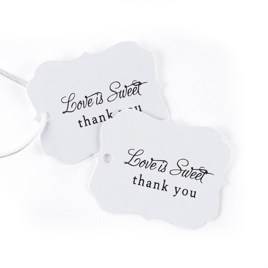 Love is Sweet Wedding Party Favor Thank You Tags