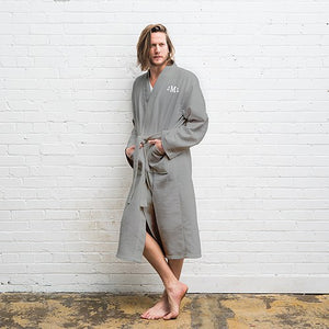 Men's Personalized Monogram Cotton Kimono Robe