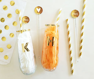 Metallic Foil Party Drink Stirrers (Pack of 25)