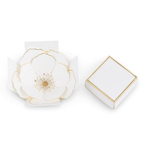 Metallic Gold Flower Bloom Favor Box
