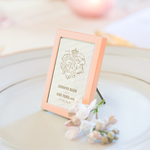 Rose Gold Mini Picture Frames Table Decorations
