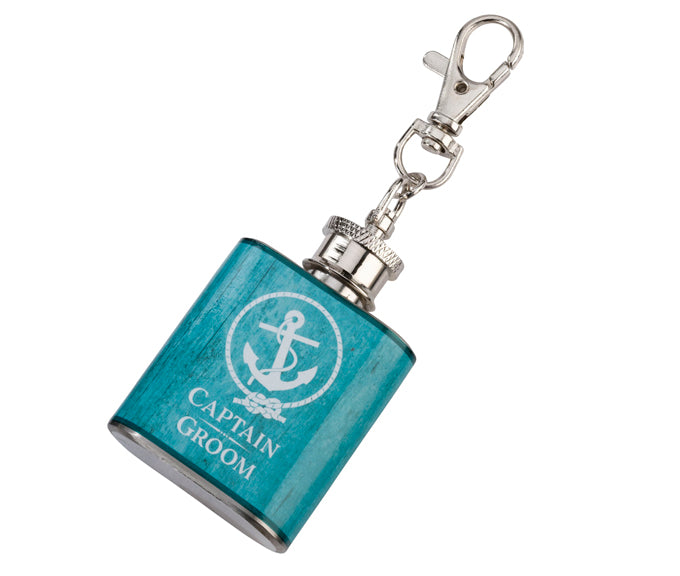 Captain Bride Wedding Party Mini Anchor Flask Favor