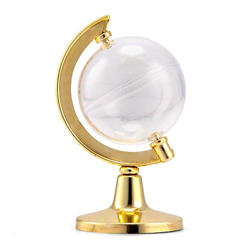 Mini Globe Gold Wedding Party Favor Container