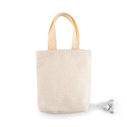 Mini Tote 3-inch Cotton Favor Bag (Pack of 10)