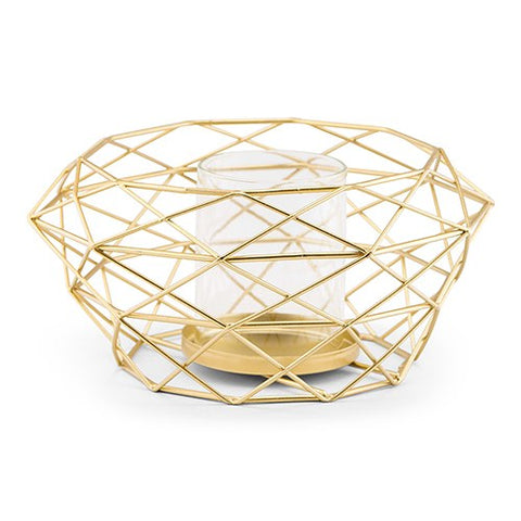 Gold Geometric Modern Metal Table Centerpiece