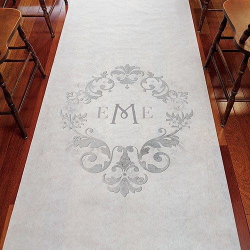 Personalized Monogram Wedding Ceremony Aisle Runner