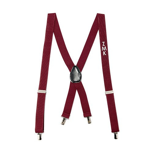 Men's Custom Monogrammed Tuxedo Suspenders Wedding Attire