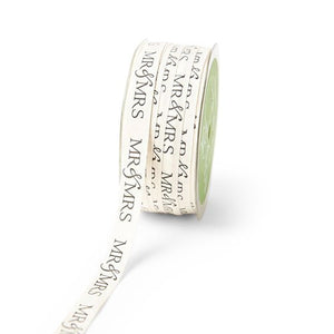 Mr. & Mrs. Ivory Canvas Ribbon