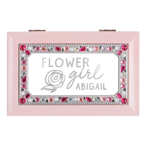 Personalized Flower Girl Music Box