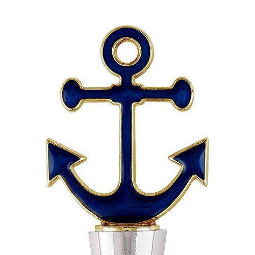 Navy Anchor Bottle Stopper
