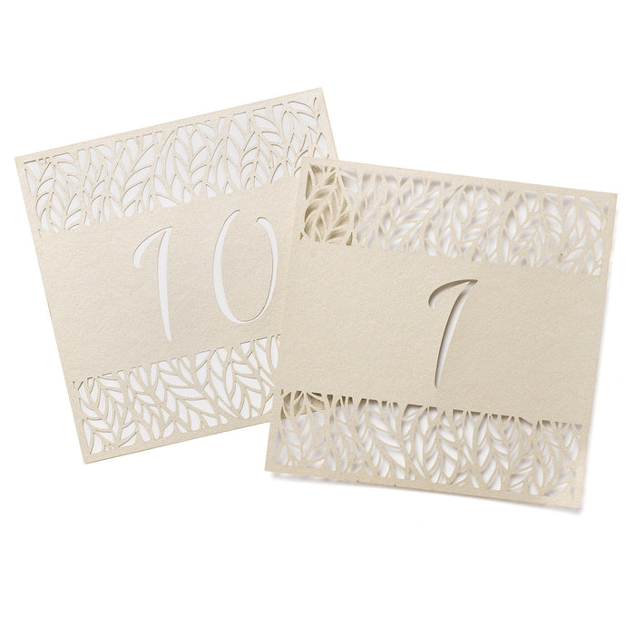 Organic Leaves Table Number Card Set