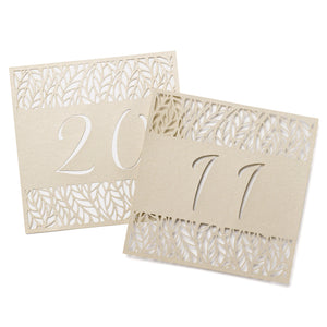 Organic Leaves Wedding Reception Table Number Card Set