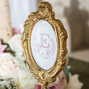 Gold Tall Oval Baroque Frame Wedding Party Table Decor