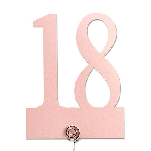 Classic Colored Paper Wedding Party Table Number Set