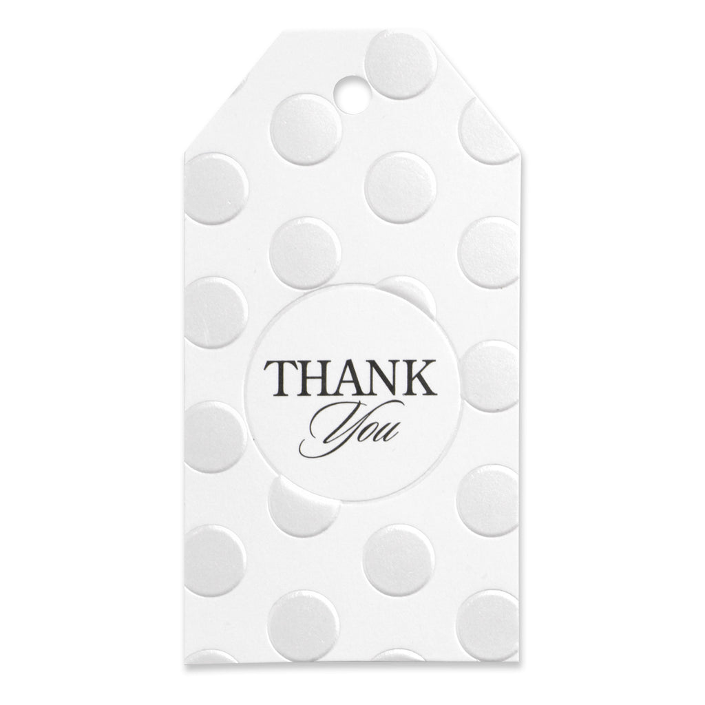 Pearl Dotted Thank You Favor Cards