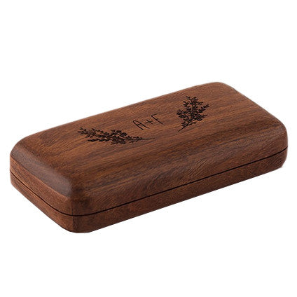 Personalized Natural Charm Wooden Wedding Ring Box