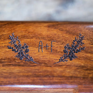 Personalized Garland Wooden Wedding Ring Box