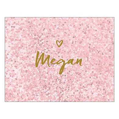 Personalized Glitter Heart Jewelry Box