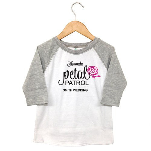Personalized Kids Flower Girl T-Shirt