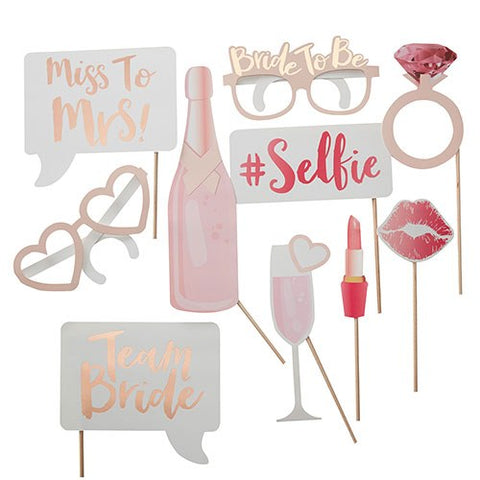 Bachelorette Party Photo Booth Prop Set