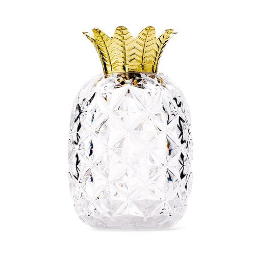 Pineapple with Gold Top Wedding Party Favor Container