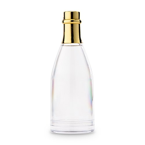 Plastic Bottle with Gold Lid Wedding Party Favor Container Set