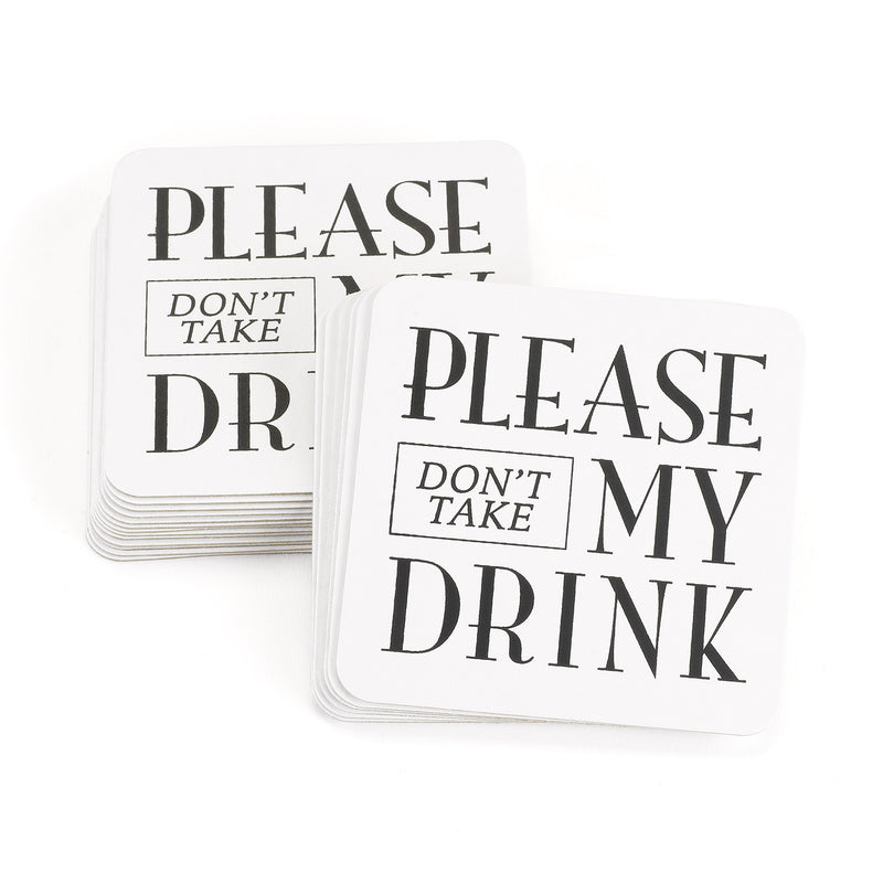 Please Don't Take My Drink Wedding Party Coasters