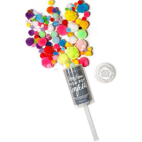 Pom-Pom Confetti Wedding or Party Push-Pop