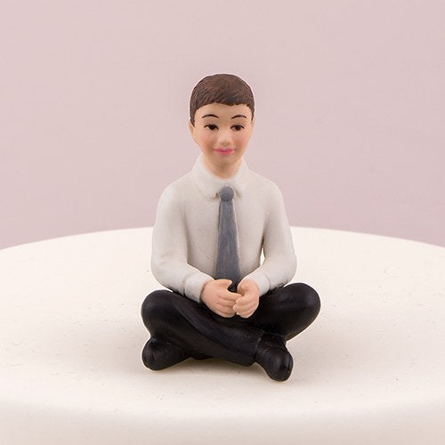 Preteen Boy Child Porcelain Wedding Cake Topper