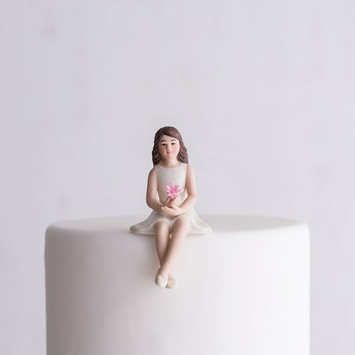 Preteen Girl Child Porcelain Wedding Cake Topper