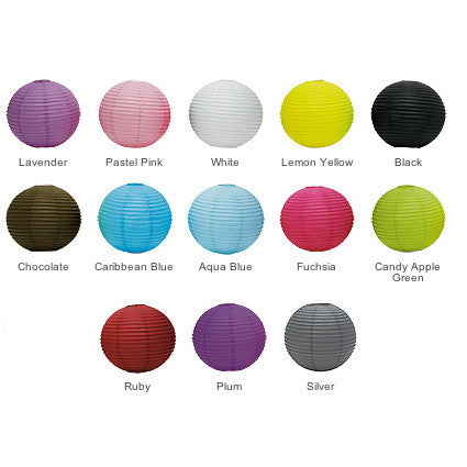 The colors of the Round Paper Lantern.