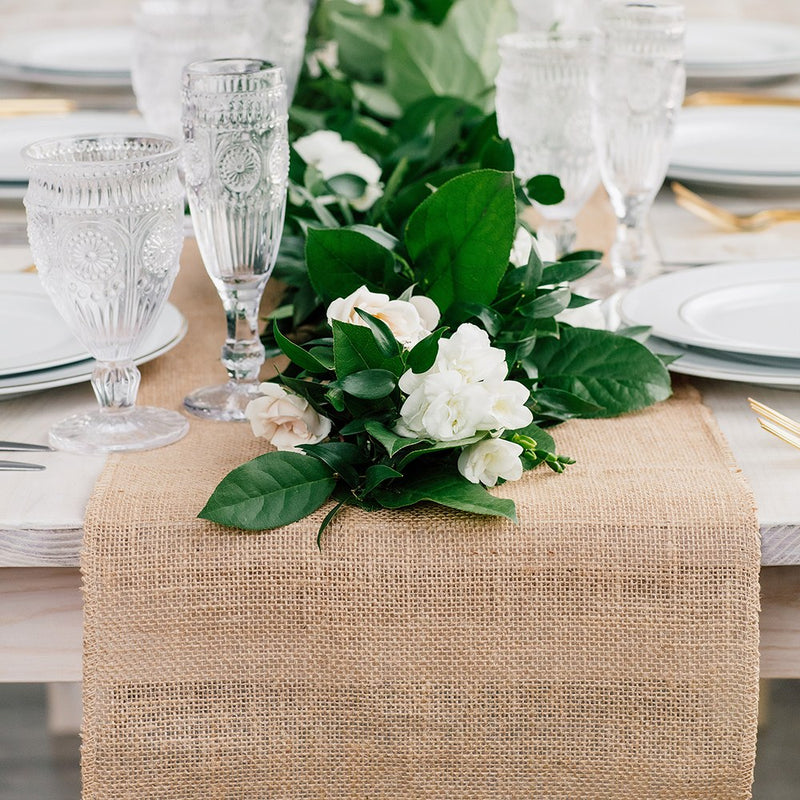 Rustic Natural Burlap Table Runner - 12-inches x 108-inches