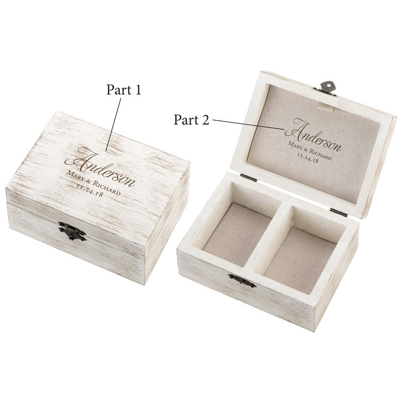 Rustic Wedding Ceremony Ring and Marriage Vow Box