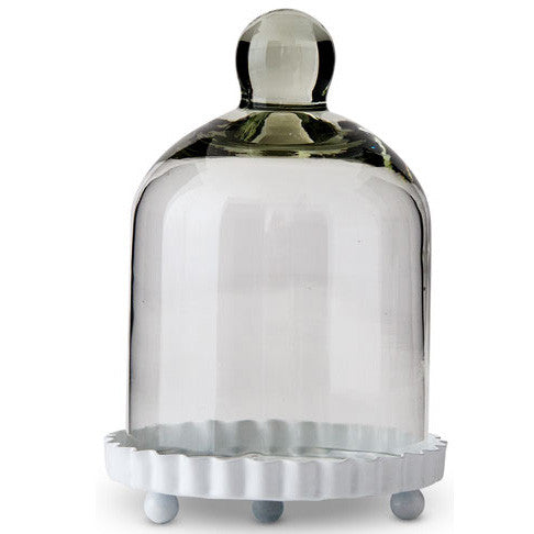 Miniature Bell Jar with Base and Lid Wedding Party Cupcake Favor (Set of 4)