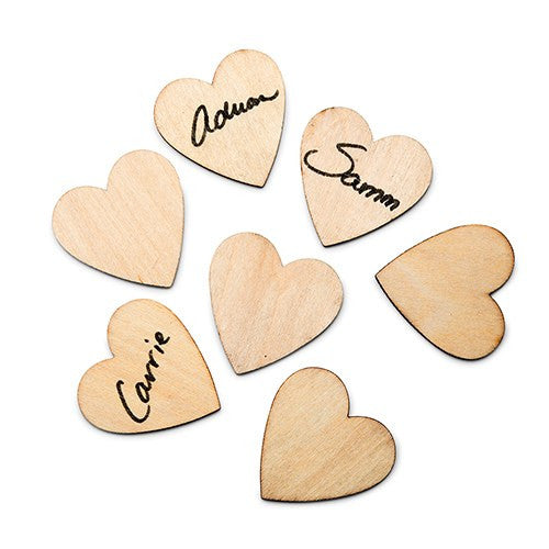 50 Wooden Craft 1 1/2-inch Wood Hearts