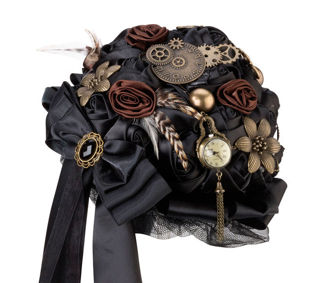 Steampunk Themed Bridal Wedding Bouquet