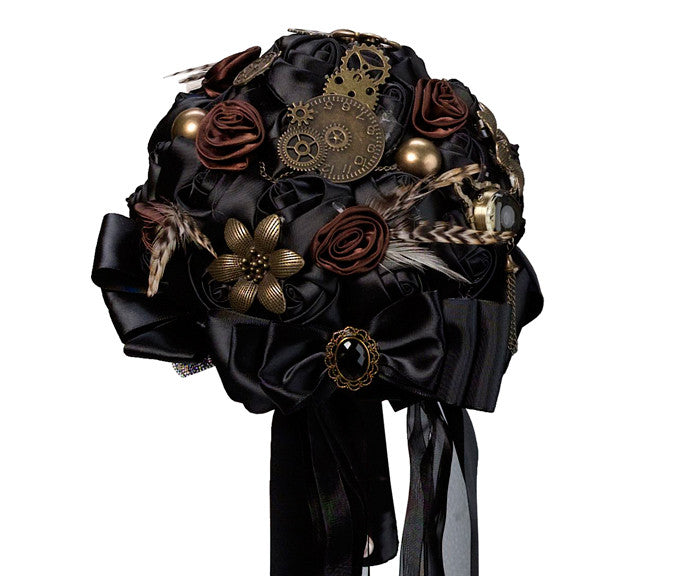 Steampunk Bridal Wedding Bouquet