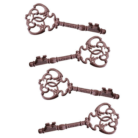 Steampunk Skeleton Key Place Card Holders (Pack of 4)