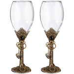 Steampunk Wedding Glass Gift Set