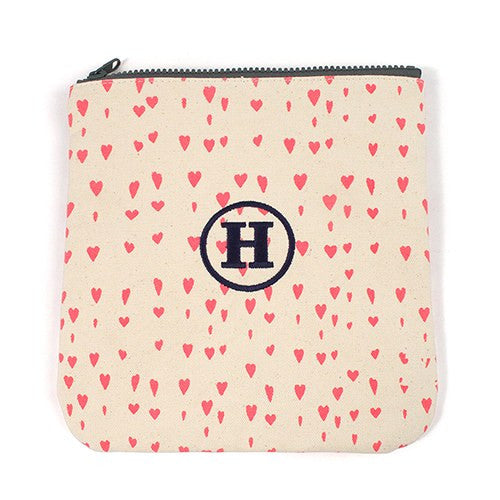 Personalized Monogram Pink Hearts Carry-all Zipper Bag